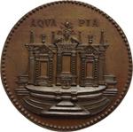 reverse:     Pio IV (1559-1565) Medaglia XVIII sec. da conii originali di Giovanni Antonio de  Rossi (D/) e Girolamo Faccioli (R/)