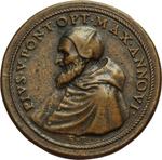 obverse:  Pio V (1566-1572), Antonio Michele Ghislieri Medaglia A. VI, per la vittoria nella battaglia di Lepanto.