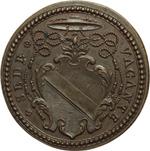 obverse:  Sede Vacante 1724 Medaglia emessa dal Prefetto dei Sacri Palazzi Apostolici, mons. Nicolò del Giudice.