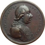 obverse:  Pio VI (1775-1799), Giovanni Angelo Braschi Medaglia premio per l Accademia del Nudo in Campidoglio.