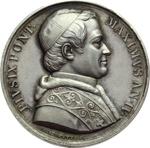 obverse:  Pio IX  (1846-1878), Giovanni Mastai Ferretti Medaglia A. IV, annuale del Giovedì Santo emessa a Caserta.