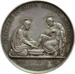 reverse:  Pio IX  (1846-1878), Giovanni Mastai Ferretti Medaglia A. IV, annuale del Giovedì Santo emessa a Caserta.