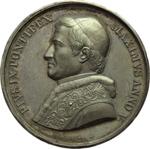 obverse:  Pio IX  (1846-1878), Giovanni Mastai Ferretti Medaglia annuale A.V