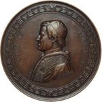 obverse:  Pio IX  (1846-1878), Giovanni Mastai Ferretti Medaglia 1851 di massimo modulo per la restaurazione dell altare papale a San Giovanni in Laterano.