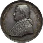 obverse:  Pio IX  (1846-1878), Giovanni Mastai Ferretti Medaglia annuale A. IX.