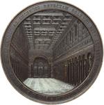 reverse:  Pio IX  (1846-1878), Giovanni Mastai Ferretti Medaglia di massimo modulo 1854, per la ricostruzione della Basilica di San Paolo.
