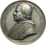 obverse:  Pio IX  (1846-1878), Giovanni Mastai Ferretti Medaglia annuale A. XVIII.