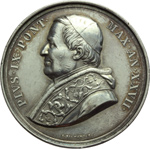 obverse:  Pio IX  (1846-1878), Giovanni Mastai Ferretti Medaglia annuale A. XXVII.