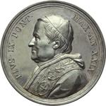 obverse:  Pio IX  (1846-1878), Giovanni Mastai Ferretti Medaglia annuale A. XXIX.