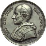 obverse:  Leone XIII (1878-1903), Gioacchino Pecci Medaglia annuale A.VII
