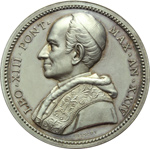 obverse:  Leone XIII (1878-1903), Gioacchino Pecci Medaglia annuale A.XXIV