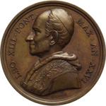 obverse:  Leone XIII (1878-1903), Gioacchino Pecci Lotto di 12 medaglie annuali: AA  XIII, XIV, XV, XVI, XVII, XVIII, XIX, XX, XXI, XXII, XXIV e XXVI.