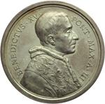 obverse:  Benedetto XV (1914-1922), Giacomo Della Chiesa  Medaglia annuale. Anno III.