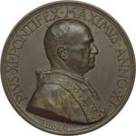 obverse:  Pio XI (1922-1939), Achille Ratti Medaglia M.M. A.XI. La nuova Pinacoteca Vaticana.