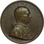 obverse:  Pio XI (1922-1939), Achille Ratti Medaglia M.M. 1932 A.XI. Il nuovo accesso ai Musei Vaticani.