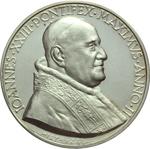 obverse:  Giovanni XXIII (1958-1963), Angelo Roncalli Medaglia straordinaria A. II, sinodo diocesano.