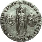 reverse:  Giovanni Paolo II (1978-2005), Karol Wojtyla Medaglia straordinaria per la visita del Pontefice a Piacenza 4/5 giugno 1988.