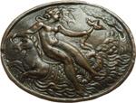 obverse:  Venere e Amore Placchetta ovale, Italia del nord XVI sec. 28,6X22,7mm.