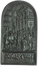 obverse:   Placchetta, scuola lombarda o romana fine XVI sec. 57.5X100.5 mm.