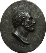 obverse:  Lucio Anneo Seneca (4 a.C-65 d.C.) Placchetta sec. XV-XVI, Italia centrale. 53X45mm.
