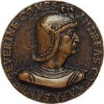 obverse:  Andrea Caraffa (1496-1526), Conte di Santa Severina Medaglia circa 1496.