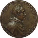 obverse:  Cardinale Francesco Maria Brancaccio (1592-1675) Placchetta uniface, circa 1636.