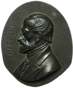 obverse:  Giuseppe Mazzini (1805-1872) Placchetta secolo XIX. 118X97mm.