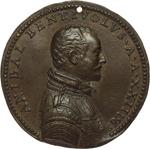 obverse:  Bologna  Annibale Bentivoglio (1547-1569) Medaglia uniface 1569 per la morte.