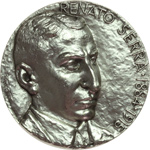 obverse:  Cesena  Renato Serra (1884-1915), Direttore Biblioteca Malatestiana Medaglia celebrativa 1984.