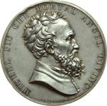 obverse:  Firenze  Michelangelo Buonarroti (1475-1564) Medaglia 1875, per il 4° centenario della nascita.