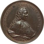 obverse:  Forlì  Giovan Battista Morgagni (1682-1771), Fondatore dell anatomia patologica Medaglia 1771, per i 90 anni.