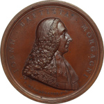 obverse:  Forlì  Giovan Battista Morgagni (1682-1771), Fondatore dell anatomia patologica Medaglia commemorativa 1807.