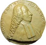 obverse:  Forlì  Giovan Battista Morgagni (1682-1771), Fondatore dell anatomia patologica Medaglione 1971 per il XXV Congresso Nazionale Celebrazioni Morgagnane