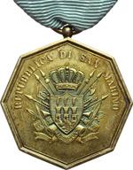 obverse:  San Marino   Medaglia anni  20 per anzianità militare, con nastrino originale.