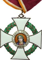 obverse:  San Marino   Decorazione da commendatore dell Ordine di S. Agata, con nastrino originale.