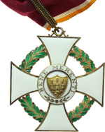 reverse:  San Marino   Decorazione da commendatore dell Ordine di S. Agata, con nastrino originale.