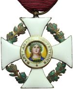 obverse:  San Marino   Decorazione da cavaliere dell Ordine di S. Agata, con nastrino e scatola originali.
