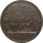 reverse:  Francia  Maria Antonietta (1755-1793) Medaglia 1793, Maria Antonietta viene condotta al patibolo.