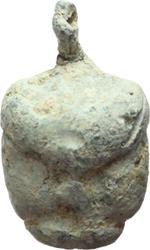 obverse:  Piombo. Elemento a forma di testa di Giano