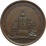 reverse:  Francia   Medaglia 5819 (1819) per la Loggia delle Arti e dell Amicizia, Parigi.