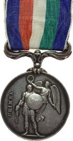 reverse:  Inghilterra  Vittoria (1837-1901) Medaglia 1854 per la guerra in Crimea.