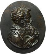 obverse:  San Paolo e San Pietro Lotto di 2 placchette ovali raffiguranti S. Paolo e S. Pietro. Scuola italiana XVIII-XIX secolo. 142X121mm.