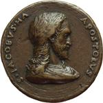 obverse:  San Giacomo Apostolo  Medaglia fusa col busto di Cristo.