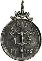 reverse:  San Giovanni Evangelista Medaglia 1726, con bell appiccagnolo originale.
