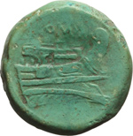 reverse:  Serie semilibrale. Semuncia, 217-215 a.C.