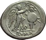 reverse:  Serie monogramma MP. Vittoriato, 211-208 a.C.