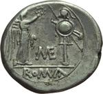 reverse:  Metellus. Vittoriato, 194-190 a.C.