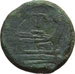 reverse:  Serie PT o TP. Asse, 169-158 a.C.