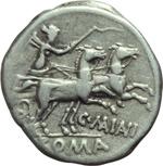 reverse:  C. Maianius. Denario, 153 a.C.