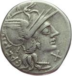 obverse:  C. Antestius. Denario, 146 a.C.